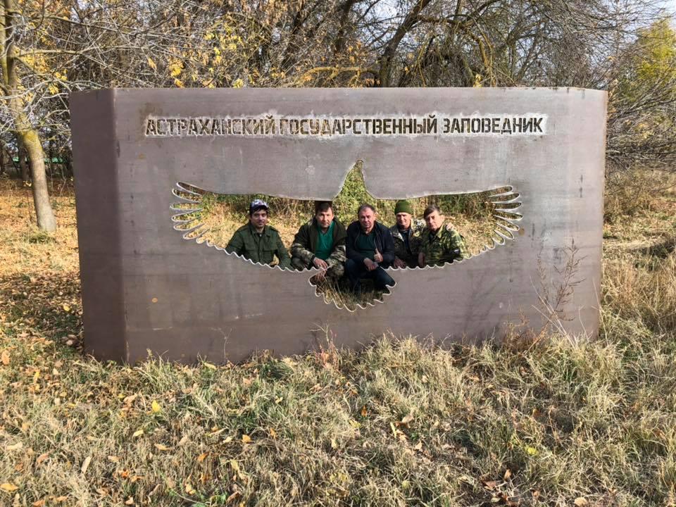 Astrachan reserve Bald eagle